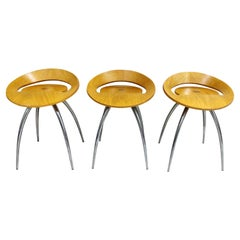 Set of 3 Magis Lyra Stools by Design Group Italia, 1990s