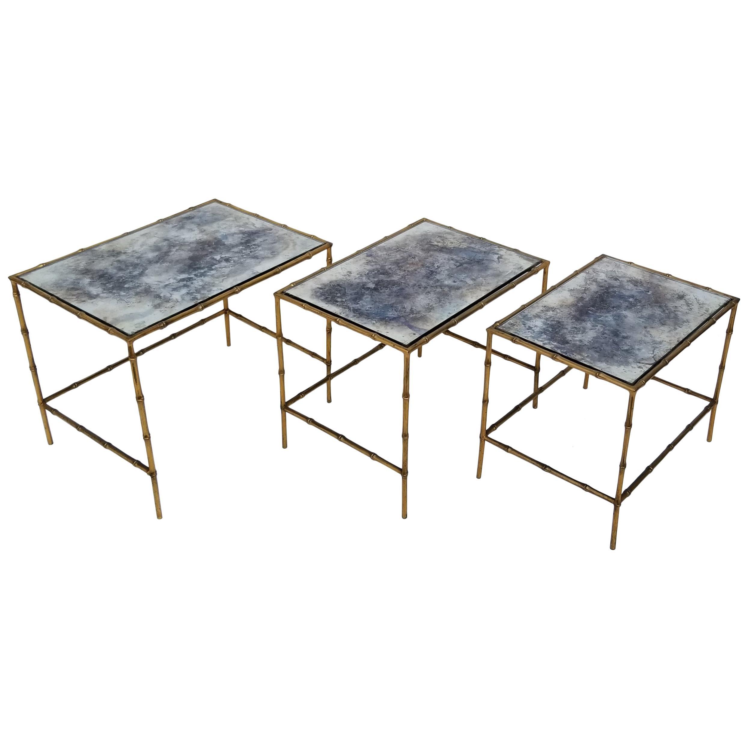 Set of 3 Maison Baguès Nesting Table