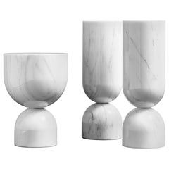 Set of 3 Marble Pedestals at Cost Price