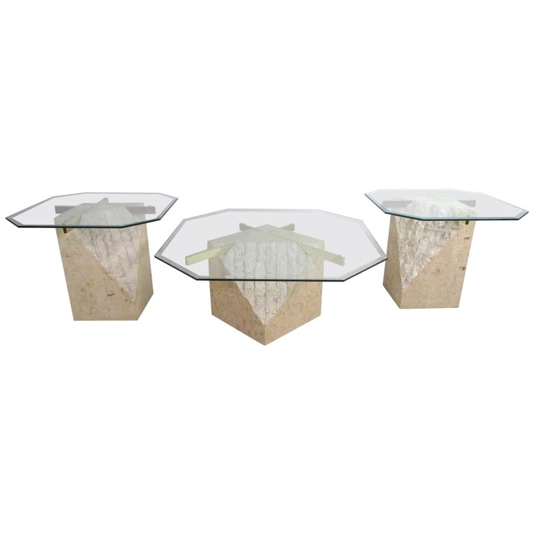 Set of 3 Midcentury Artedi Style Tables