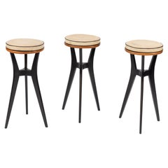 Set of 3 Midcentury Bar Stools