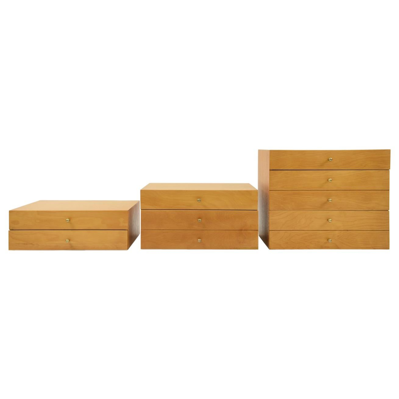 Set of 3 Midcentury Miniature Stacking Chests Attributed to Arthur Umanoff