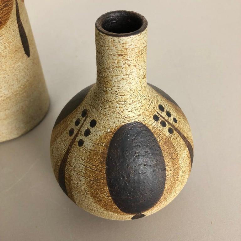 Set of 3 Modernist 1970s Vase Sculptures Peter Müller for Sgrafo Modern, Germany For Sale 4