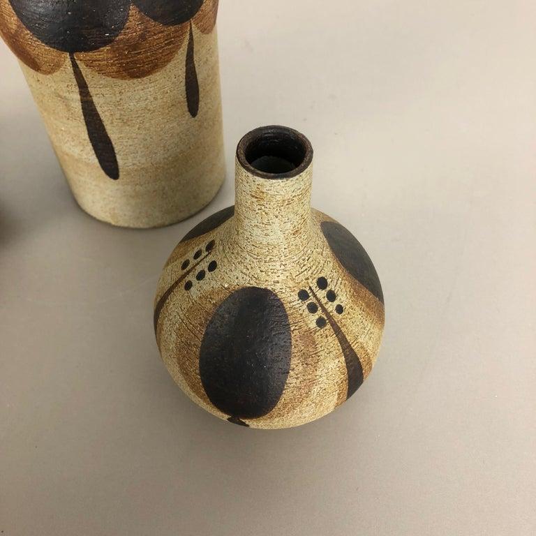 Set of 3 Modernist 1970s Vase Sculptures Peter Müller for Sgrafo Modern, Germany For Sale 7