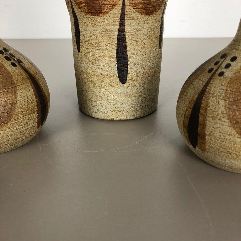 Set of 3 Modernist 1970s Vase Sculptures Peter Müller for Sgrafo Modern, Germany For Sale 9