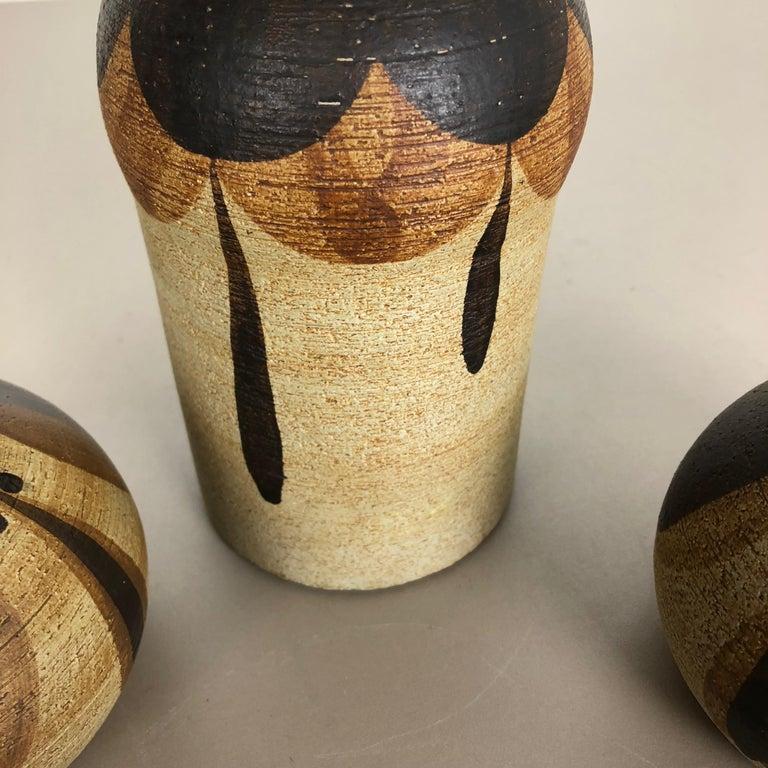 Set of 3 Modernist 1970s Vase Sculptures Peter Müller for Sgrafo Modern, Germany For Sale 10