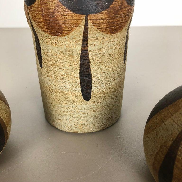 Set of 3 Modernist 1970s Vase Sculptures Peter Müller for Sgrafo Modern, Germany For Sale 1
