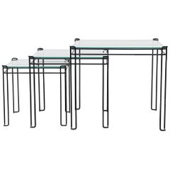 Set of 3 Modernist Wire Nesting Tables