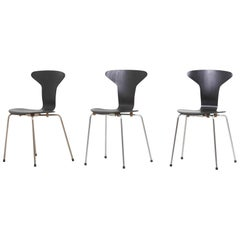 Set of 3 Mosquito Munkegård Dining Chairs by Arne Jacobsen, Denmark, 1950s