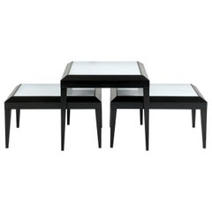 Set of 3 Nesting Tables in Black