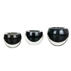 Set of 3 New Old Stock, Murano Glass Ashtray by Antonio da Ros, Cenedese, 1960s
