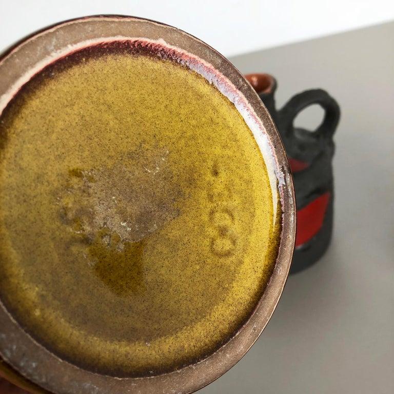 Set of 3 Original 1970 Ceramic Studio Pottery Vase by Marei Ceramics, Germany 6