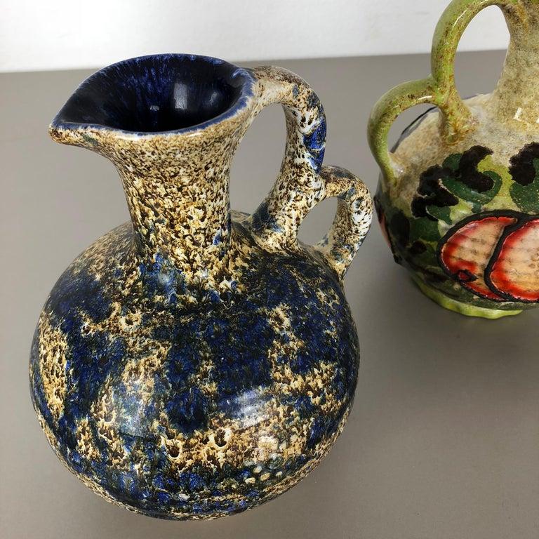 Set of 3 Original 1970 Ceramic Studio Pottery Vase by Marei Ceramics, Germany For Sale 3