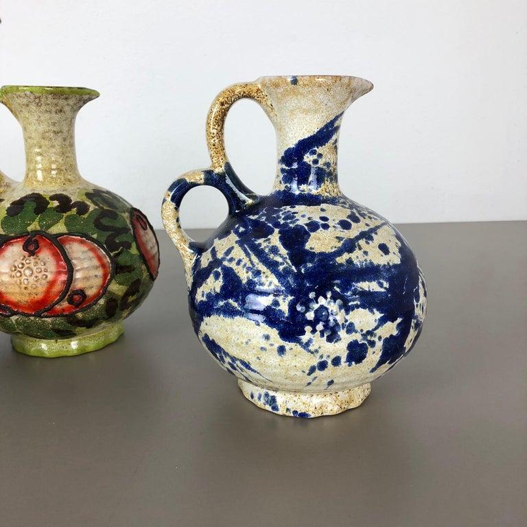 Set of 3 Original 1970 Ceramic Studio Pottery Vase by Marei Ceramics, Germany For Sale 4