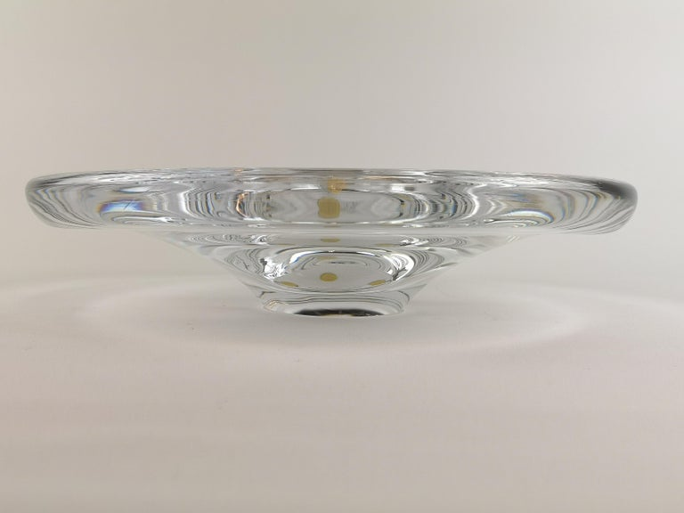 Art Glass Set of 3 Orrefors Pieces Sven Palmqvist Midcentury For Sale