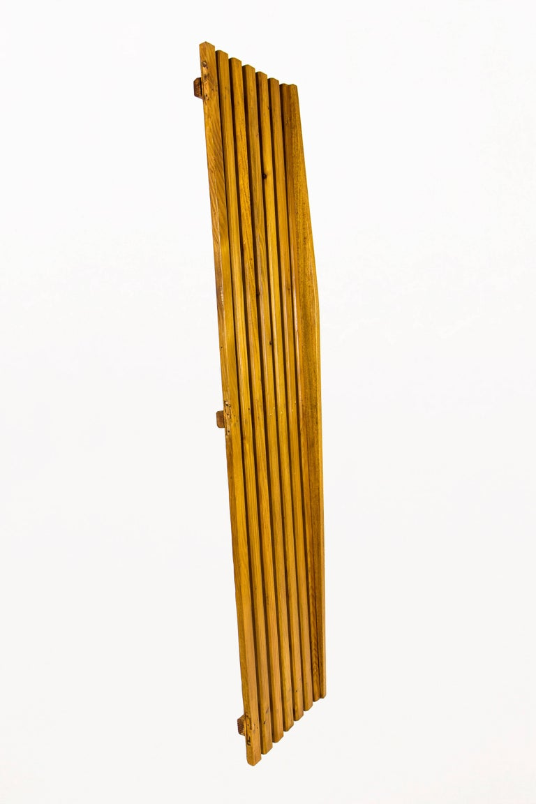 French Set of Three Pairs of Charlotte Perriand Slat Doors, circa 1950, France For Sale