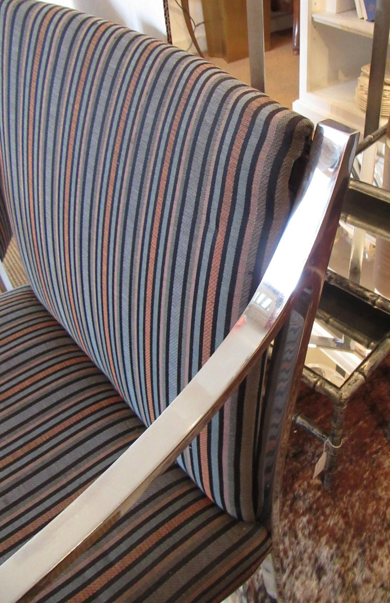 American Set of 3 Pierre Cardin Chrome Armchairs For Sale