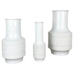 Set of 3 Porcelain Op Art Vase by Richard Scharrer for Thomas, Germany, 1970s