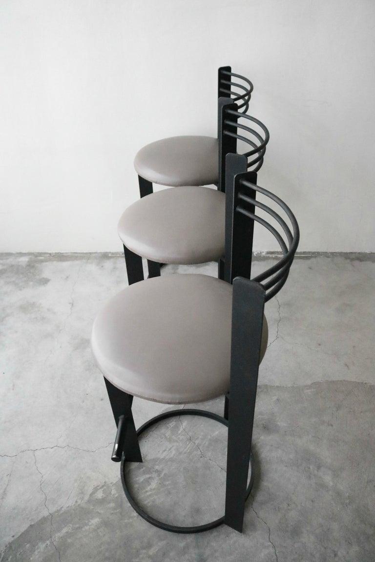 Set Of 3 Postmodern Italian Memphis Milano Minimalist