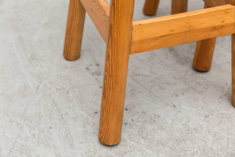 Mid-20th Century Set of Three Rainer Daumiller Pine Bar Stools For Sale