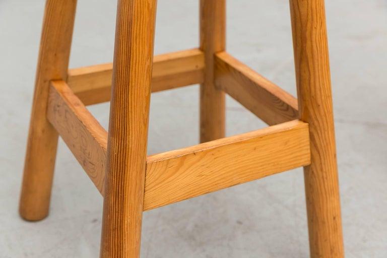 Set of Three Rainer Daumiller Pine Bar Stools For Sale 1
