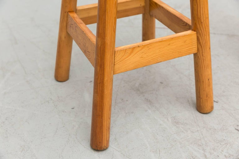 Set of Three Rainer Daumiller Pine Bar Stools For Sale 2
