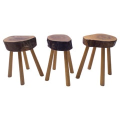 Set of 3 Rare Midcentury Four-Legged Side Tables or Stools