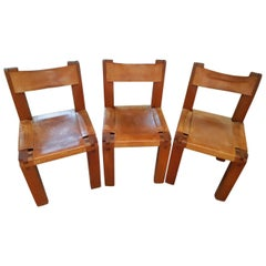 Set of 3 S11 Chairs by Pierre Chapo