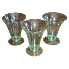 Set of 3 Salviati Venetian Glass Sundaes