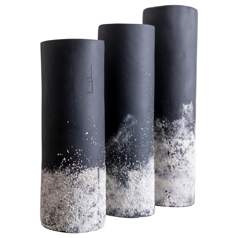 Set of 3 Sand Vases by Biancodichina
