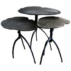 Set of 3 Sauvage Fossil Side Tables by Plumbum