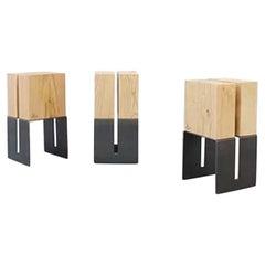 Set of 3 Simmis Stools by La Cube