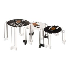 Set of 3, Size XL Triple Play Coffee Table in Black and White by Gaetano Pesce