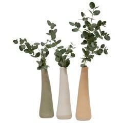 Set of 3 Solitario Stoneware Vases by Camila Apaez