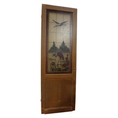 Set of 3 Stained Glass Doors with Birds
