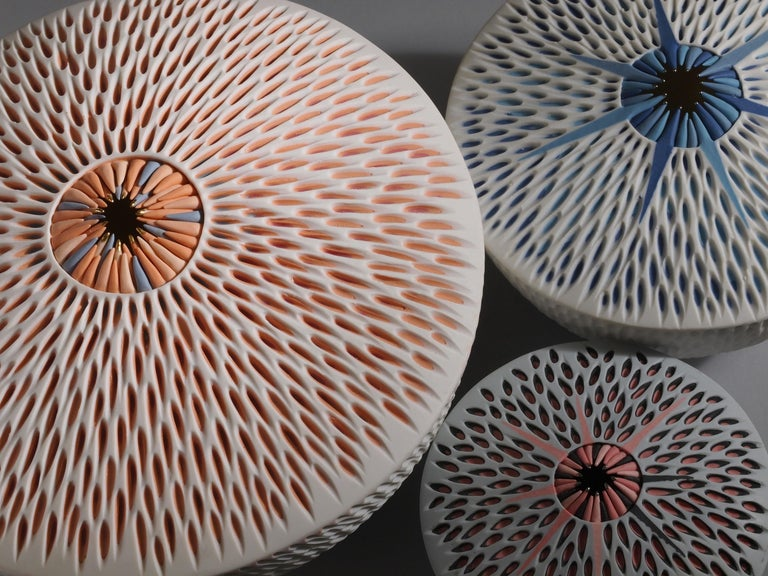 Fired Set of 3 Starfish Bowls Porcelain Italian Contemporary 21st Century Unique For Sale
