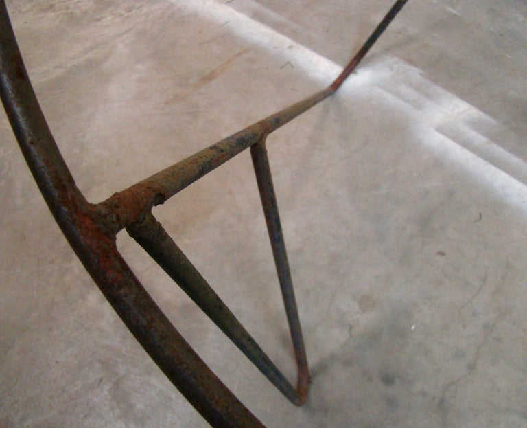 Set of 3 Steel Hoop 1950s Poolside Chairs with Hairpin Front Legs 'Narrow X' For Sale 1