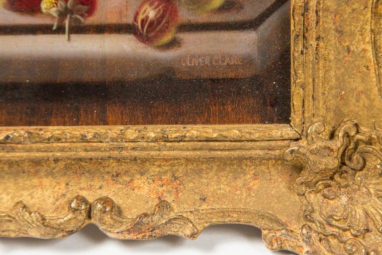 Set of 3 Still Life in Gilt Frames Signed For Sale 3