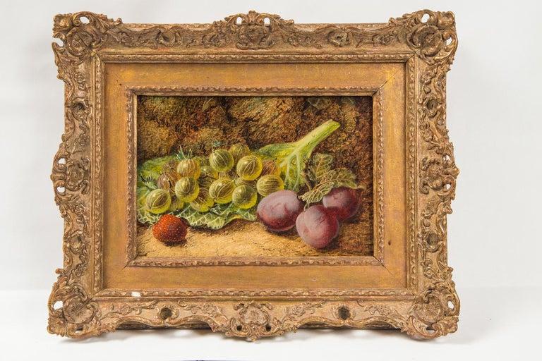British Set of 3 Still Life in Gilt Frames Signed For Sale