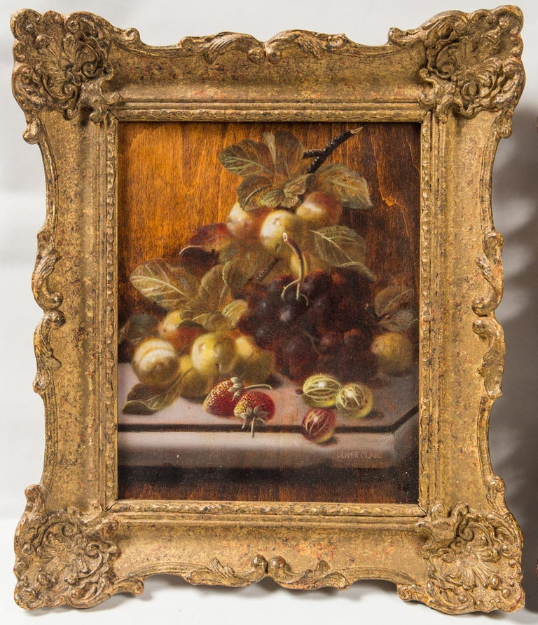 Set of 3 Still Life in Gilt Frames Signed In Good Condition For Sale In Woodbury, CT