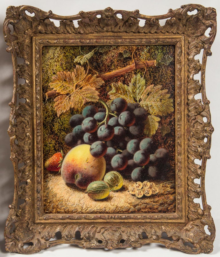 20th Century Set of 3 Still Life in Gilt Frames Signed For Sale