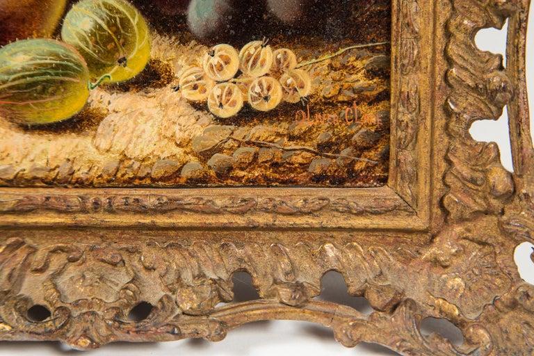 Set of 3 Still Life in Gilt Frames Signed For Sale 2