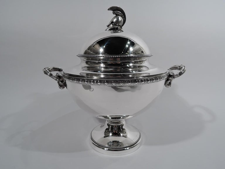 American Classical Set of 3 Super Stylish Early Tiffany Etruscan Revival Sterling Silver Tureens For Sale