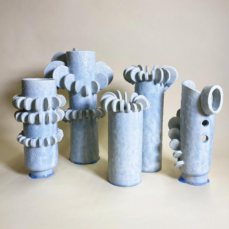 Set of 3 Tempo Sculptures by Olivia Cognet In New Condition For Sale In Geneve, CH