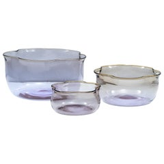 "Set of 3 ""Tulipani"" Blown Glass Nesting Vases by Sergio Asti for Salviati, 2003"