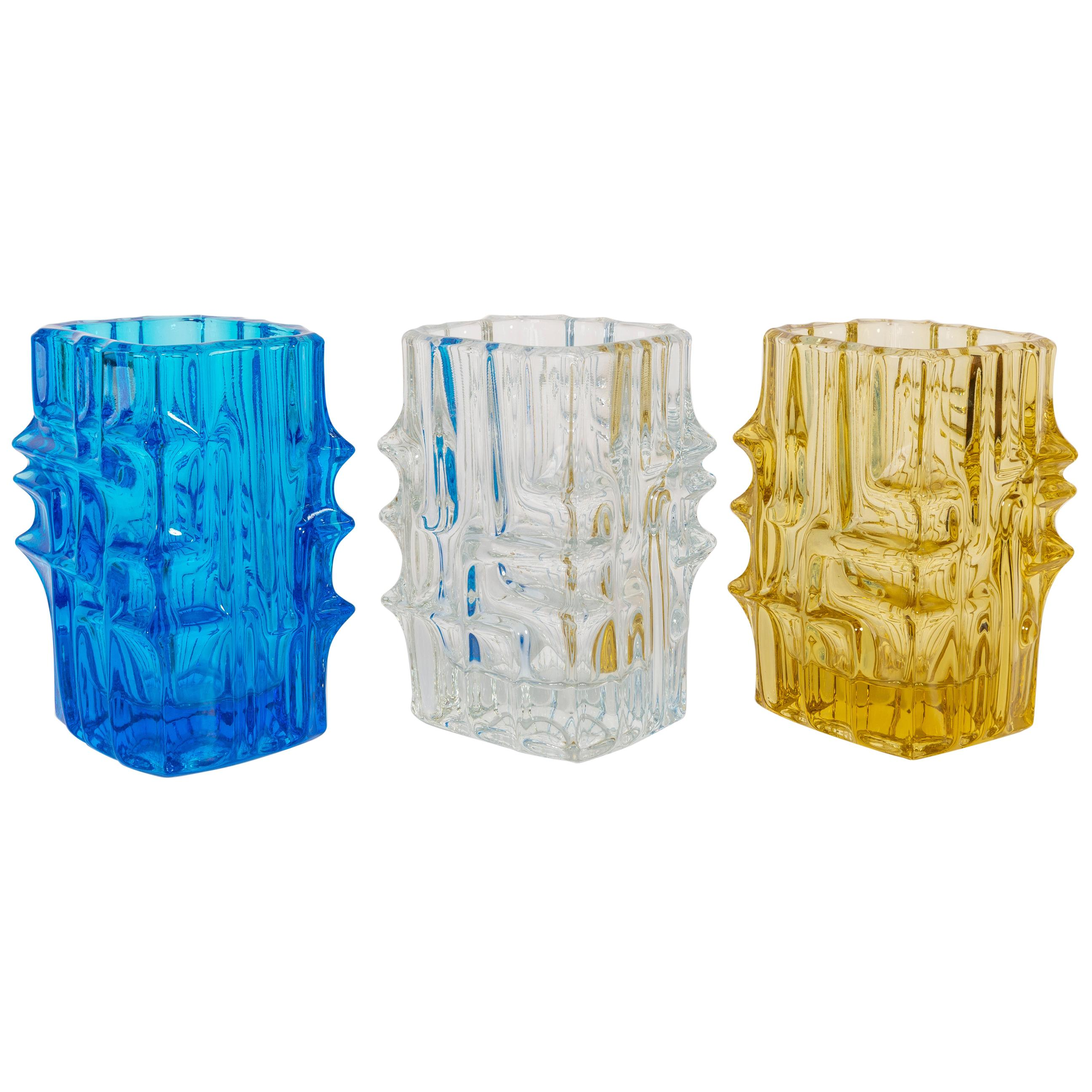 Set of 3 Vases by Vladislav Urban for Sklo Union, 20th Century, Europe, 1960s
