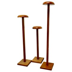 Set of 3 Very High Taylor's Wooden Fabric Display Shop Stands