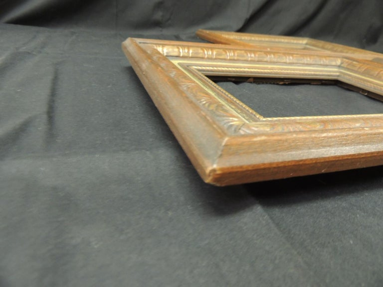 American Set of '3' Vintage Green Painted Wood Art Frames For Sale