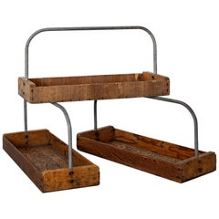 Set of 3 Wood Trays with Handle
