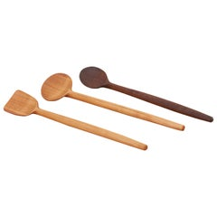 Set of 3 Wooden Spoons by Fabian Fischer, Germany, 2020